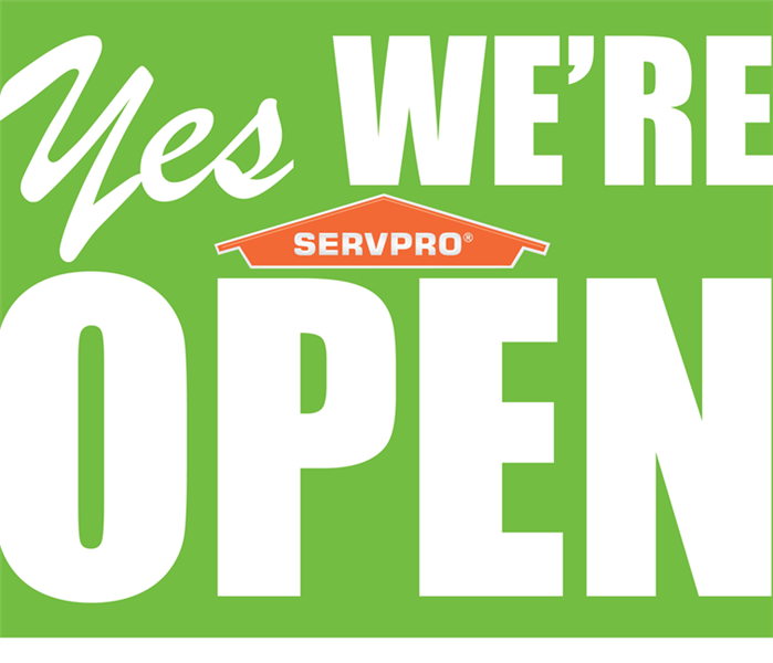 We are open.