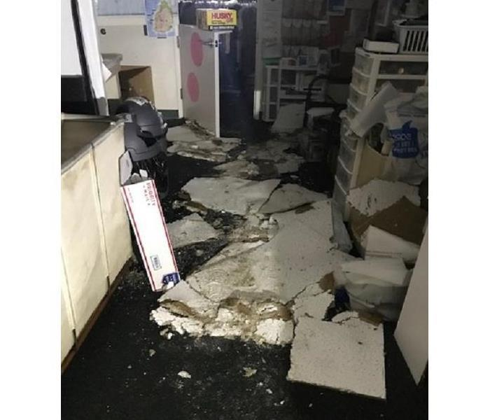 Water Damage A Discovery Store flood In Los Gatos
